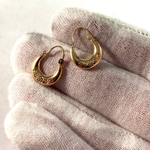 Sweden Mid Century 18k Gold Earrings.