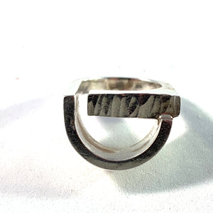 Rey Urban, Sweden year 1972 Modernist Sterling Silver Ring. Signed