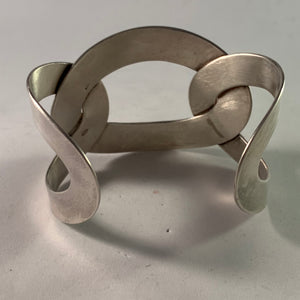 Milano, Italy Vintage Sterling Silver Cuff Bracelet.