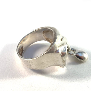 Bjorn Weckstrom for Lapponia, Finland year 1974 Sterling Silver Kinetic Ring.