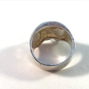 Bjorn Weckstrom for Lapponia, Finland year 1974 Sterling Silver Kinetic Ring. In original bag.