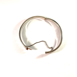 Mid Century Sterling Silver Open/Close Bangle Bracelet.