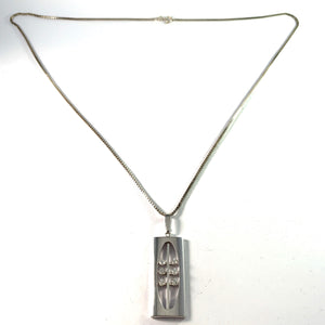 K&L-Kordes Lichtenfels, Germany c 1960s. Solid Silver Pendant Necklace.