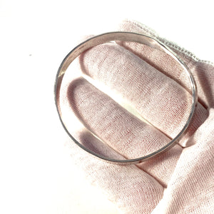 B Liljedahl, Stockholm 1980 Vintage Hammered Sterling Silver Bangle Bracelet