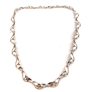 Swedish Import 1950s Vintage Solid 830 Silver Necklace.