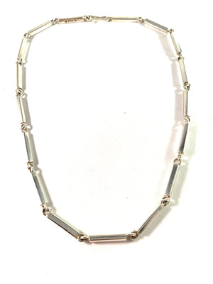 Acke R Tötterman, Sweden 1954 Vintage Sterling Silver Link Necklace. Signed.