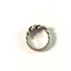 Victor Janson, Sweden Vintage Sterling Silver Viking Copy Ring.