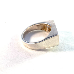 O.Aikala & Co, Finland 1975 Modernist 830 Silver Ring.