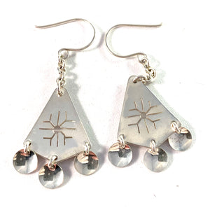 Juhls, Norway Vintage Sterling Silver Earrings.