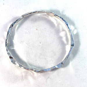 Claes E Giertta, Stockholm Vintage Modernist Sterling Silver Bangle Bracelet.