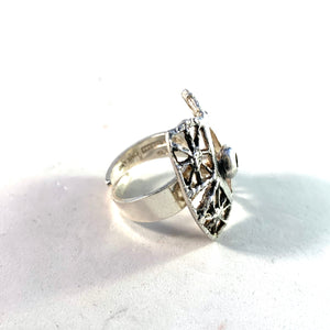 Pentti Sarpaneva for Torun Hopea Finland 1972 Solid Silver Ring Design Pitsi Lace