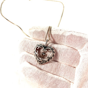 Kalevala Koru, Finland Vintage Sterling Silver Heart of the House Pendant.