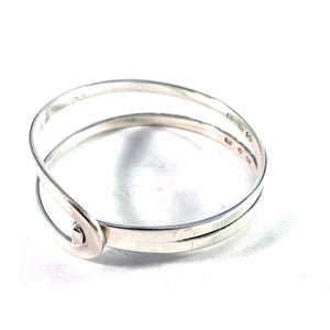 Anders Högberg, Gothenburg 1977 Sterling Silver Signed Bangle Bracelet.