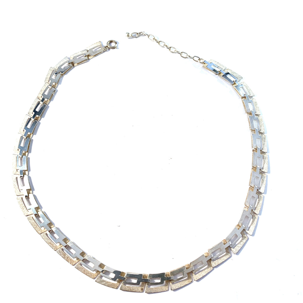 Friedrich Speidel, Germany, Mid Century Modern 1950-60s Solid 835 Silver Necklace.