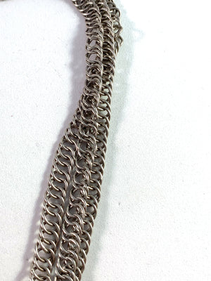 Johan Mathias Holm, Sweden year 1817-30 Georgian Solid Silver Paste Choker Necklace.