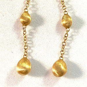 Marco Bicego, Italy 18k Gold Dangle Earrings.