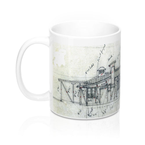 Remaining Stock Closeout: Weber House Sketch Coffee Mug