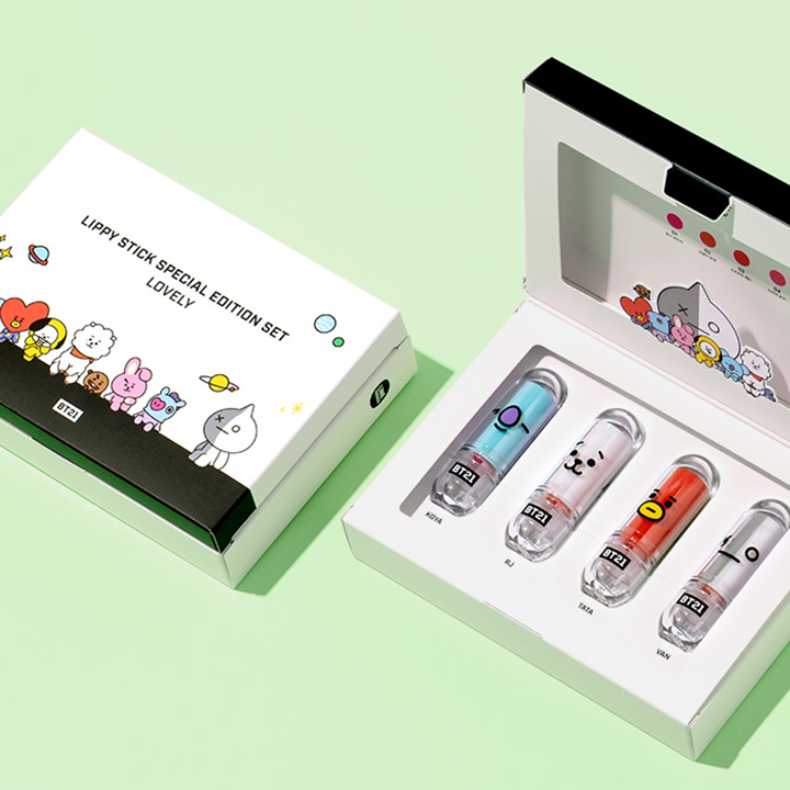 BT21 x VT Special Edition Lippy Stick | LIPPY STICK SPECIAL EDITION SET [LOVELY]