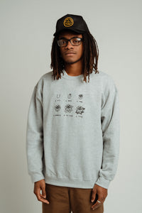 GROWTH STITCHED CREWNECK