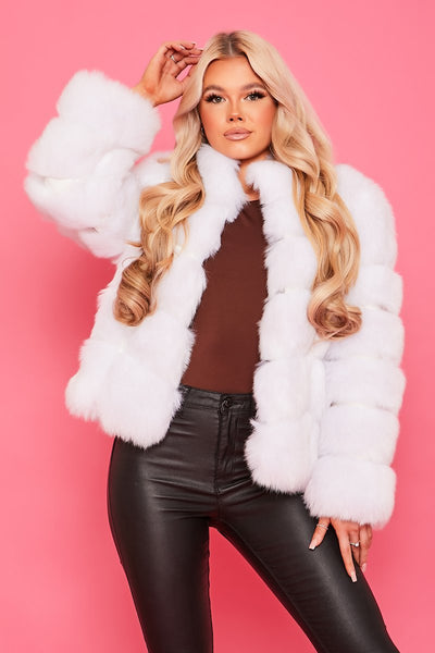 Fauxy Fur - White - OURGIRL dresses