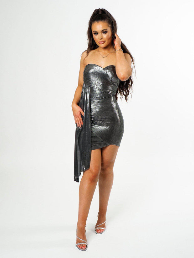 Metallic Slay Dress - OURGIRL