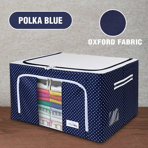 BlushBees® Oxford Fabric Storage Boxes For Clothes, Sarees, Bed Sheets, Blanket Etc. - 1 BOX ONLY