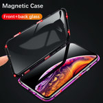 Apple iPhone Frameless (Front+ Back) Magnetic Case + Camera Lens Guard