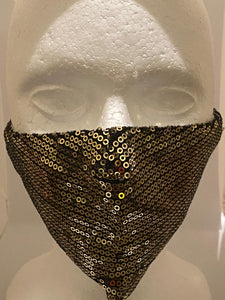 Sparkle 3 layer Face Mask with adjustable elastic straps