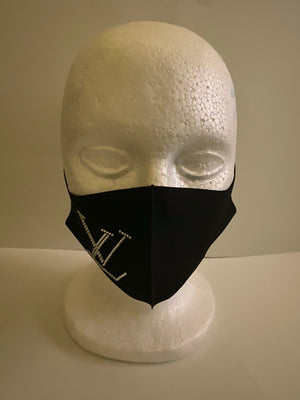 Women's pink and Black mask