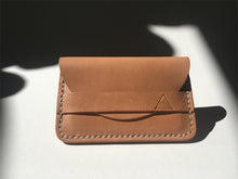 Load image into Gallery viewer, Minimalist slim leather wallet [hand sewn] card holder