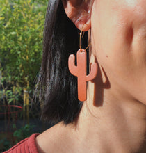Load image into Gallery viewer, Cactus Earrings/ Plants earrings / Light weight earrings minimalist