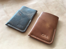 Load image into Gallery viewer, Rustic brown leather 3 pockets wallet [hand sewn]