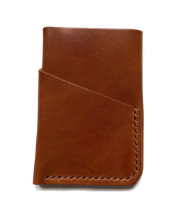 Brown  leather wallet , slim wallet card holder, personalized wallet