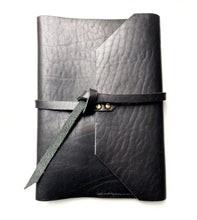 Load image into Gallery viewer, Personalized gifted Black Leather Journal notebook