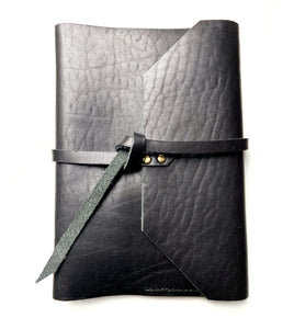 Personalized gifted Black Leather Journal notebook