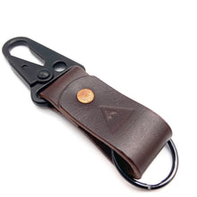 Load image into Gallery viewer, Mountain Fox Goods Brown Leather Keychain, Horween Chromexcel, Personalized gift
