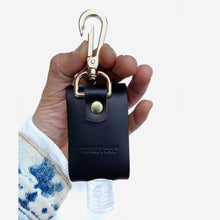 Load image into Gallery viewer, Hand sanitizer holder leather keychain