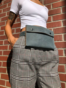 Leather belt bag/ modern fanny pack