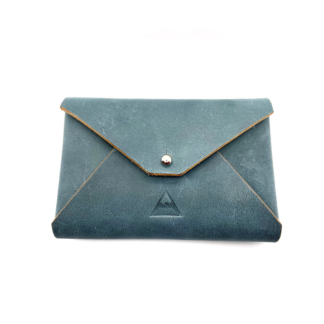 Blue leather Business Card Holder