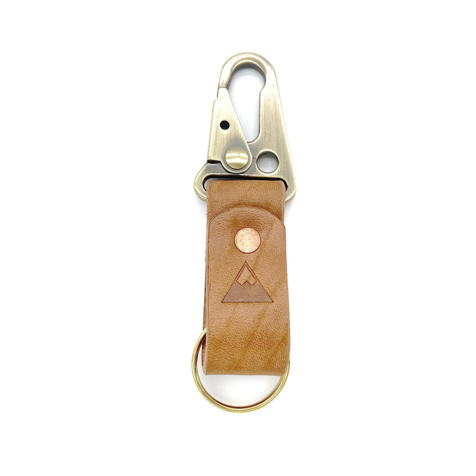 Mountain fox goods Leather Keychain, Horween Chromexcel, Personalized gift for him
