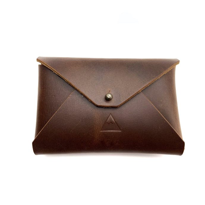 Brown leather wallet pouch, Business card Holder