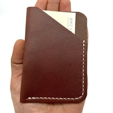 Load image into Gallery viewer, Dark brown leather wallet , Business card holder case , Personalized card wallet , Handmade wallet