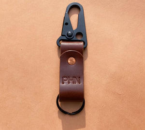 Mountain Fox Goods Brown Leather Keychain, Horween Chromexcel, Personalized gift