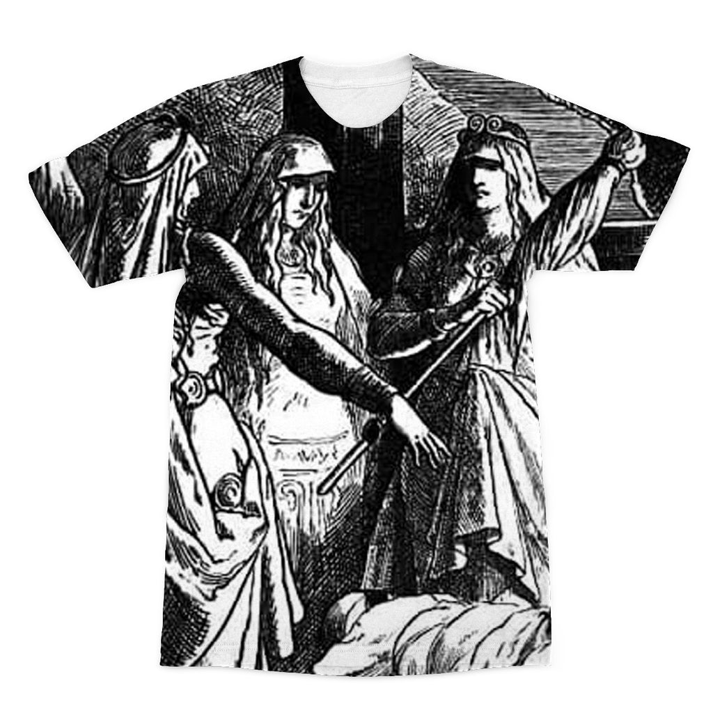 The Norns  by Johannes Gehrts (1889)  Sublimation T-Shirt