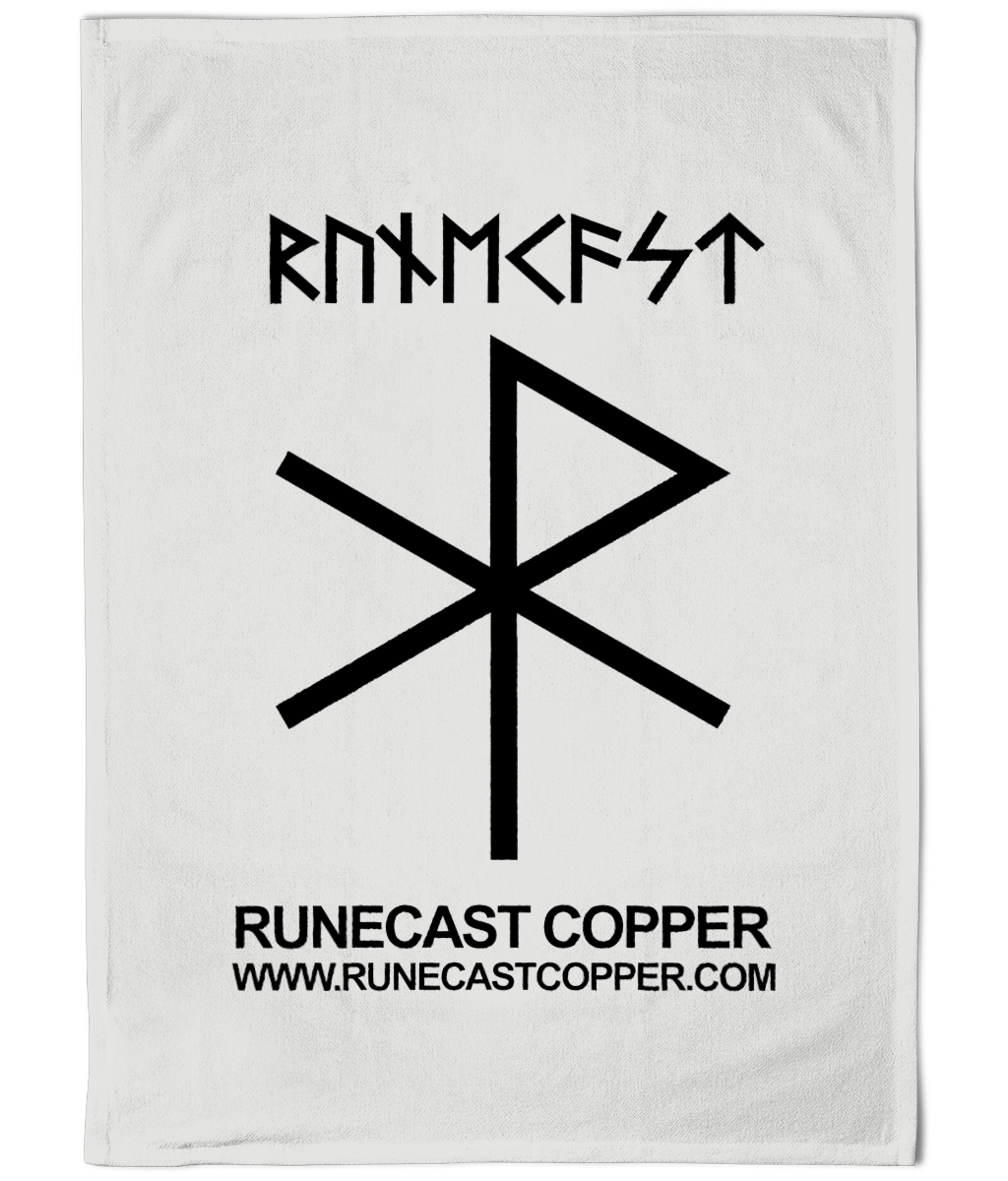 Runecast Copper Cotton Tea Towel