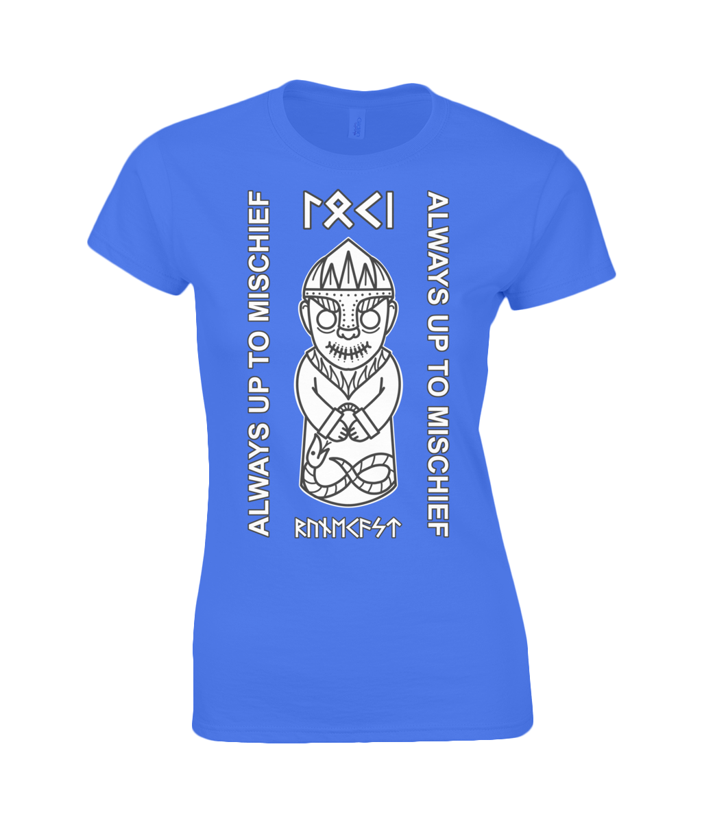 Loki Viking God of Mischief Gildan Ladies Premium Cotton T-Shirt