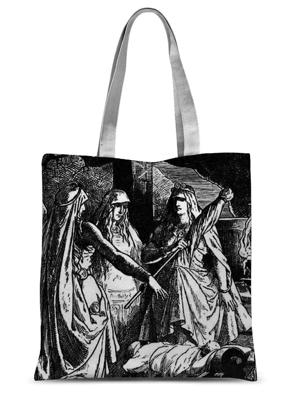 The Norns  by Johannes Gehrts (1889)  Sublimation Tote Bag