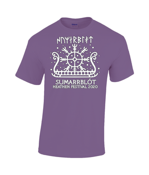 Sumarrblot Sunship White Printing Gildan Heavy Cotton T-Shirt