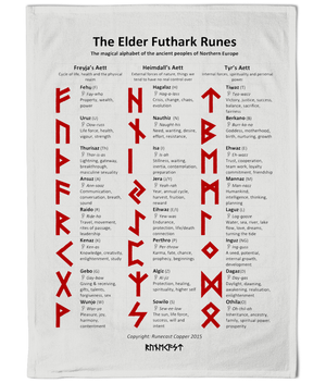 Cotton Tea Towel - The Elder Futhark Runes