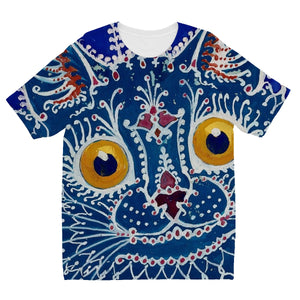 A Cat in The Gothic Style by Louis Wain Kids' Sublimation T-Shirt